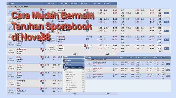 Cara Mudah Bermain Taruhan Sportsbook di Nova88